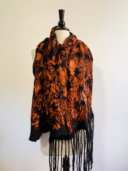 Orange and Black Scarf