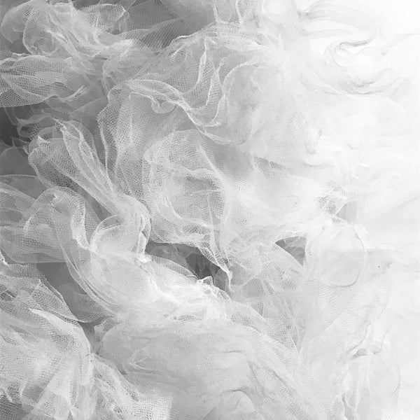 White Bridal Tulle Skirt