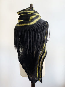 Oversized Blanket Scarf with Dreads