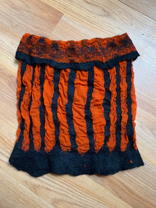 Orange and Black Striped Cowl