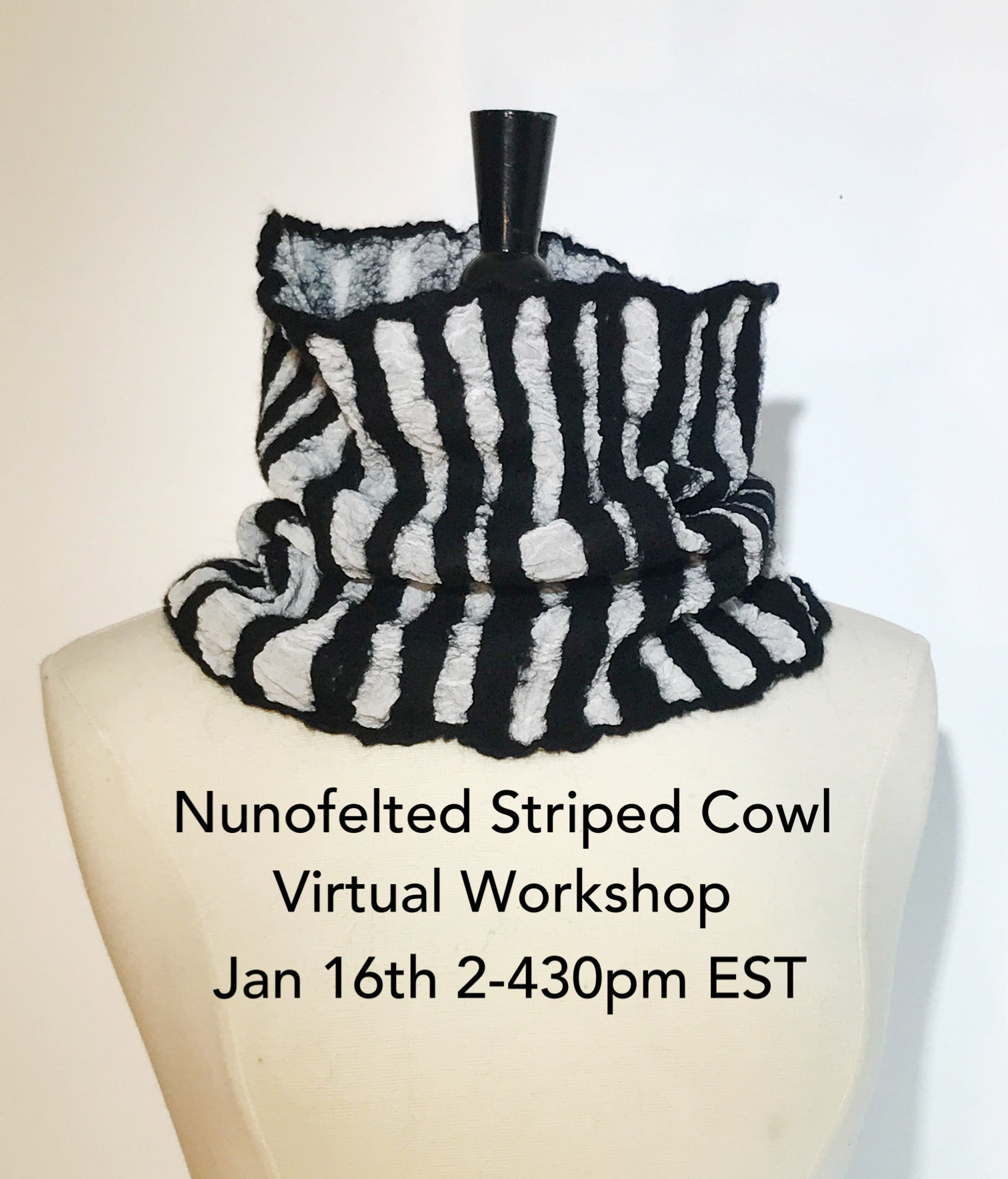 Nunofelted Striped Cowl Workshop
