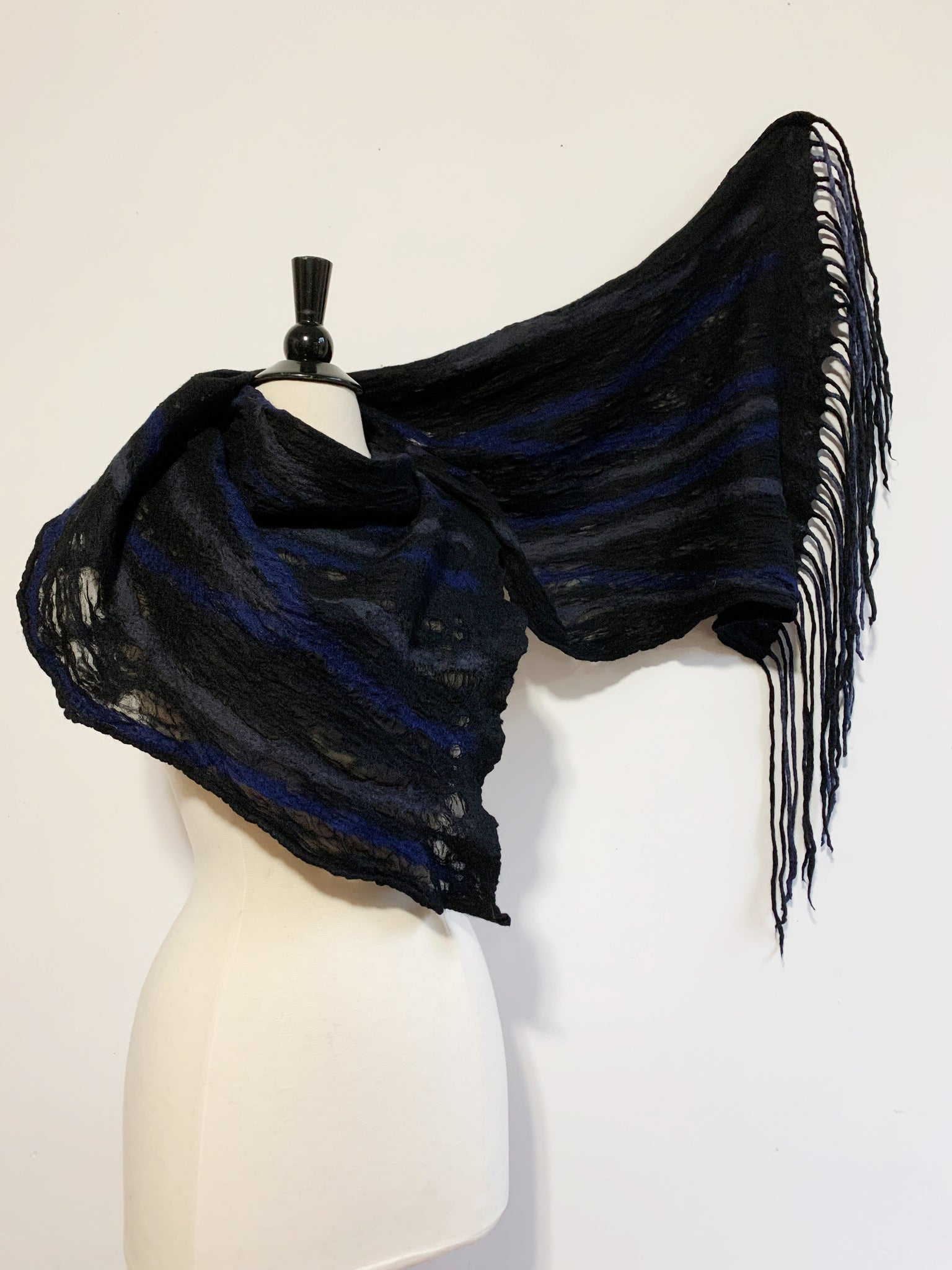 Blues and Black Energy Scarf
