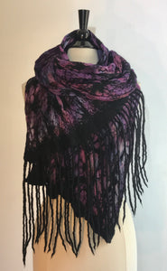 Scarf with Dread Fringe