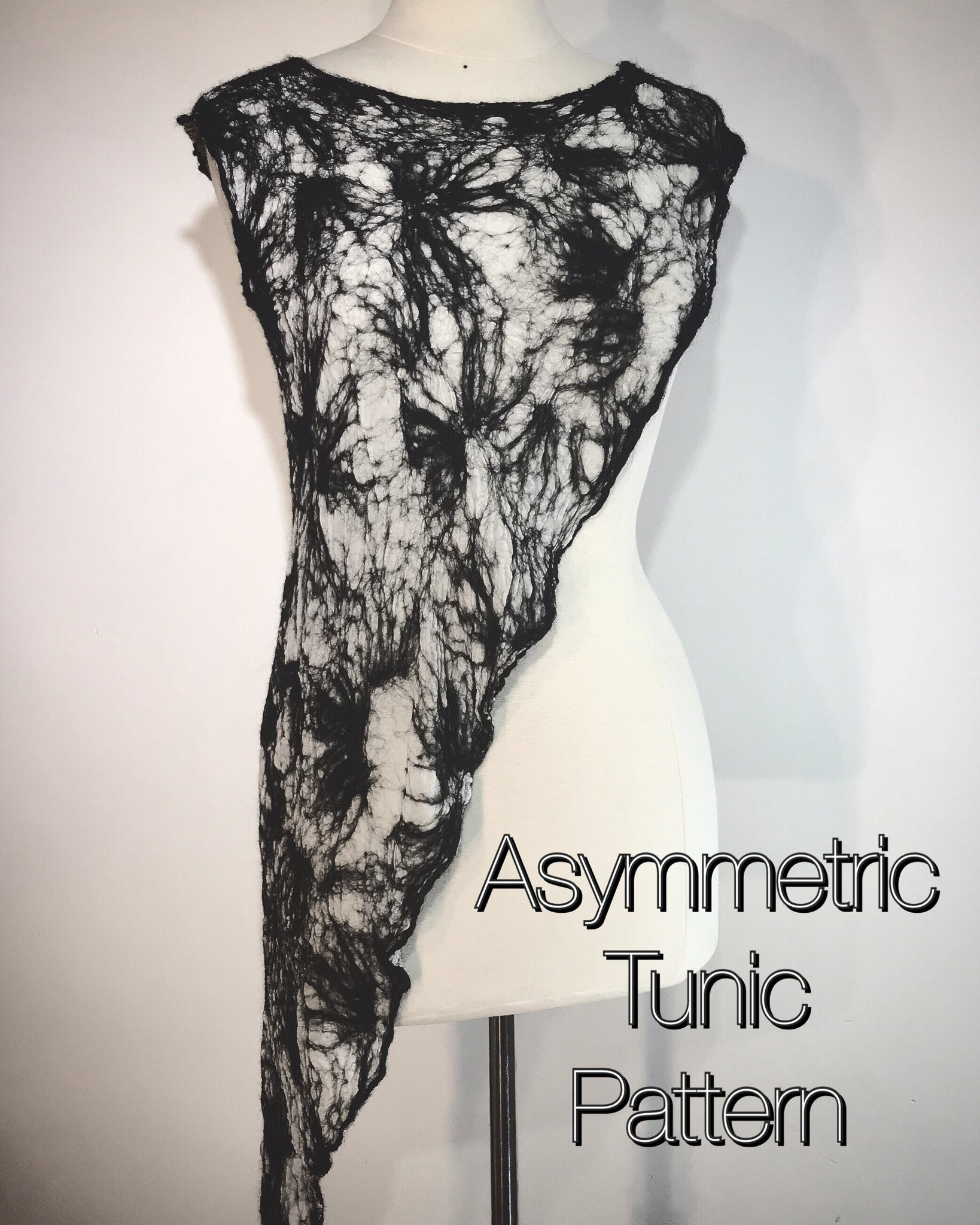 Nunofelted Asymmetric Tunic Pattern and Tutorial