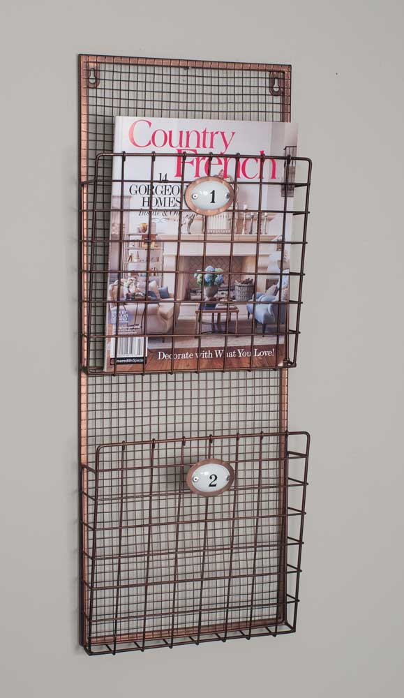 Wire Hanging Magazine Rack