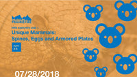 Little Explorers Club + Unique Mammals: Spines, Eggs and Armored Plates
