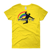 Women's Cut Rainbow Fist