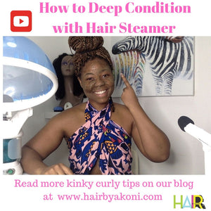 Hair Steamer Deep Conditioning Routine