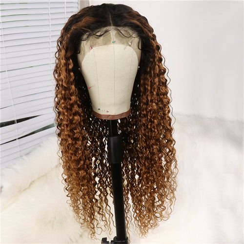 1B/30 Blonde Deep Curly Full Lace Wig - Hair By Akoni