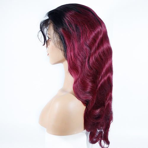 1B/99J Body Wave Full Lace Wig - Hair By Akoni