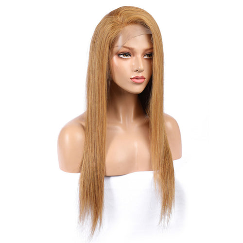 Strawberry Blonde Straight Full Lace Wig - Hair By Akoni
