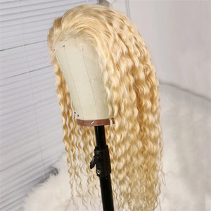 613 Blonde Deep Curly Full Lace Wig - Hair By Akoni