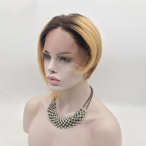 Brown/Blonde Ombre Bob Wig - Hair By Akoni