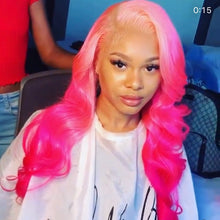 Light Pink and Dark Pink Wig in Loose Curl - Hair By Akoni