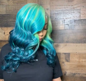 "3 Toned Ombre Closure 14"" Bundle - Hair By Akoni"