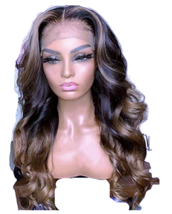 Brown and Blonde Loose Curl Wig - Hair By Akoni