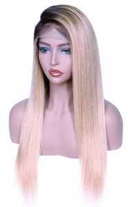 "20"" 1B/Blonde Ombre Straight Wig - Hair By Akoni"