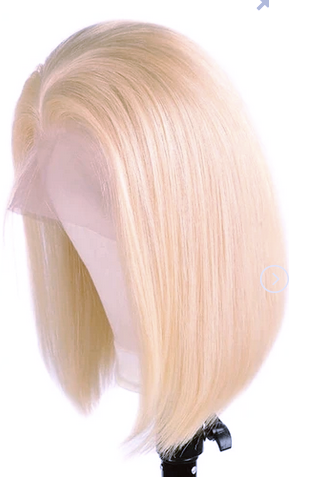 Straight Bob 4x4 Closure Wig in 613 Blonde - Hair By Akoni