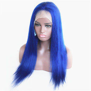Blue Straight Full Lace Wig - Hair By Akoni