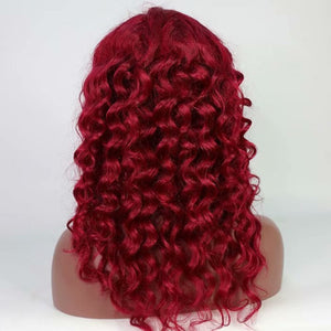 Burgundy Loose Wave Full Lace Wig - Hair By Akoni