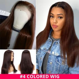 Brown #4 Straight Full Lace Wig - Hair By Akoni