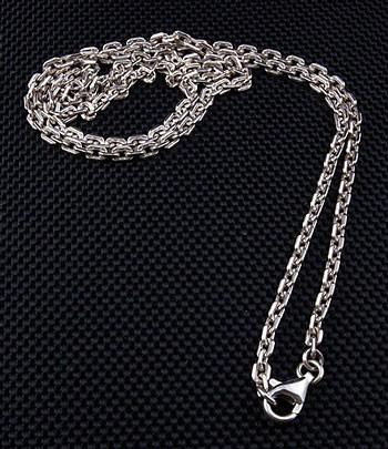 2mm chain sterling silver necklace-silverringsmens