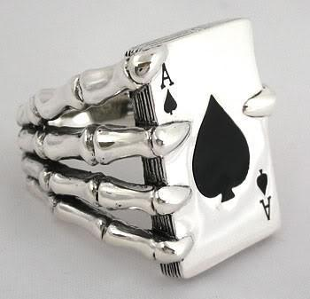 Ace Card Silver Mens Ring-silverringsmens