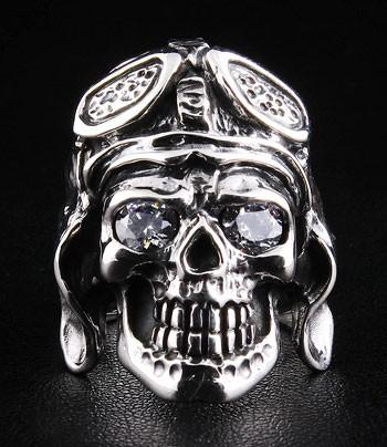 Aviator WW2 Mens Ring-silverringsmens