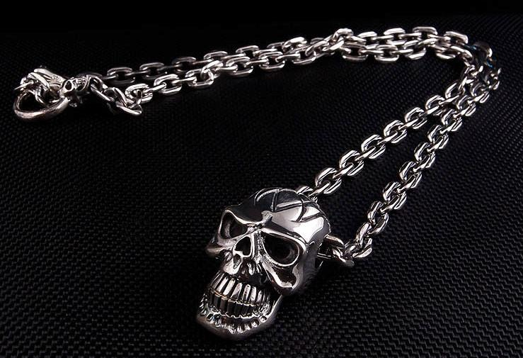 Big Head Skull Chain-silverringsmens