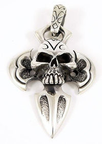 Big Skull Pendant Necklace-silverringsmens