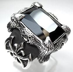 Black Dragon Claw Ring-silverringsmens