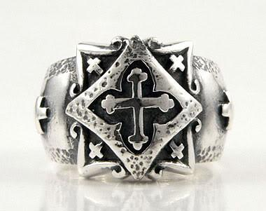Celtic Cross Ring-silverringsmens