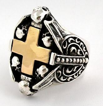 Cross Heart Ring-silverringsmens
