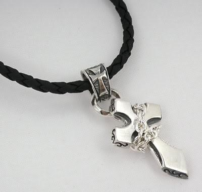 Cross Pendant Necklace-silverringsmens