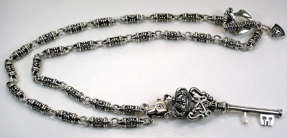 Crown Silver Mens Necklace-silverringsmens