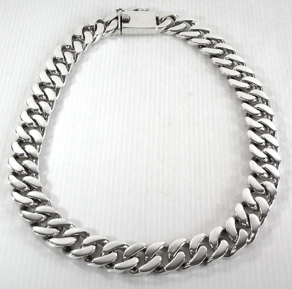 Cuban Chain Necklace-silverringsmens