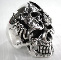 Death Skull Rings-silverringsmens