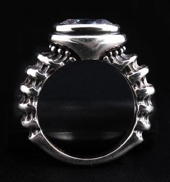Diamond Gothic Ring-silverringsmens