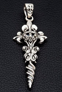 Diamond Gtohic Cross Pendant-silverringsmens