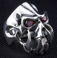 Fang Devil Ring-silverringsmens