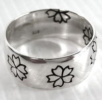 Flower Ring-silverringsmens