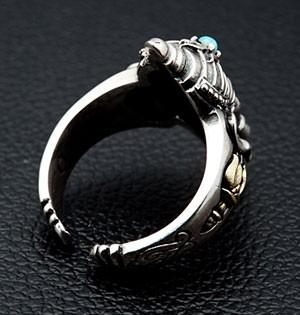 Ganesh Turquoise Silver Rings-silverringsmens