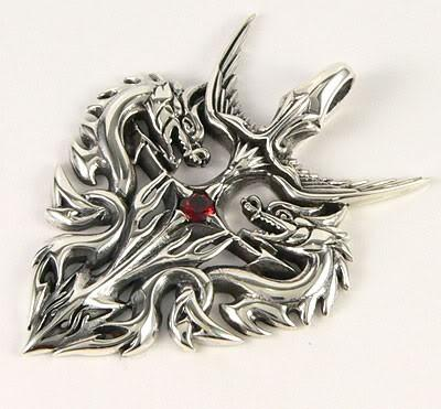 Guardian Dragon Pendant-silverringsmens