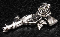 Gun and Rose Cowboy Pendant-silverringsmens