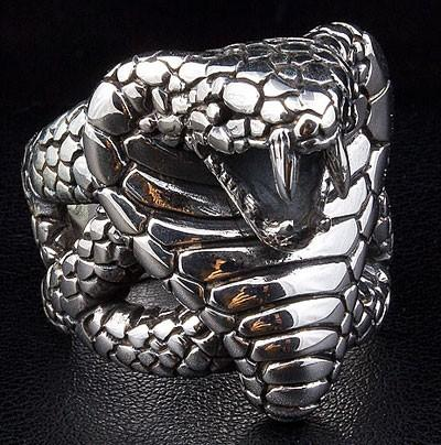 King Cobra Ring-silverringsmens