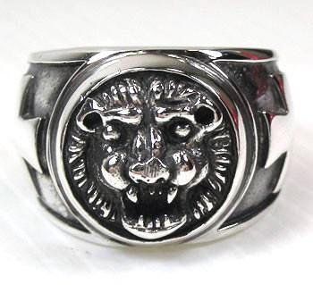 Leo Lion Band Mens Ring-silverringsmens