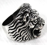 Lion Head Ring-silverringsmens