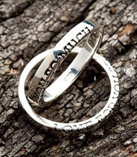 Love You Couple Rings-silverringsmens