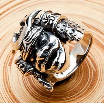 Samurai Mask Rings-silverringsmens