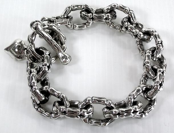 Skeleton Bone Bracelet-silverringsmens